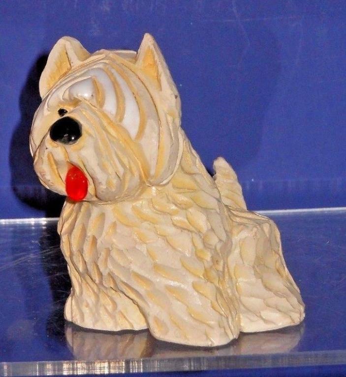 Vintage Artesania Rinconada Happy Dog Scotty Terrier Dog Figurine