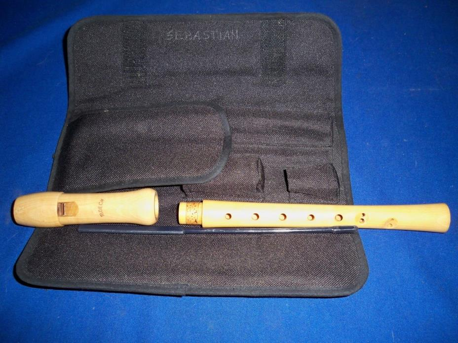 Moeck Soprano Recorder 121 Wooden Flute Musical Instrument w Case