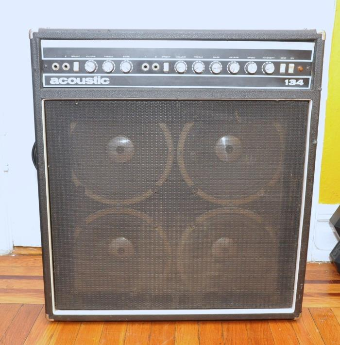 Vintage 1970s Acoustic 134 4x10 Combo Guitar Amplifier Amp WORKS!!!!
