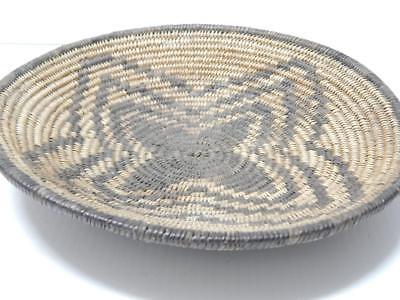 ANTIQUE VINTAGE W. APACHE INDIAN BASKETRY TRAY -SNOWFLAKE DESIGN - c.1890-1910