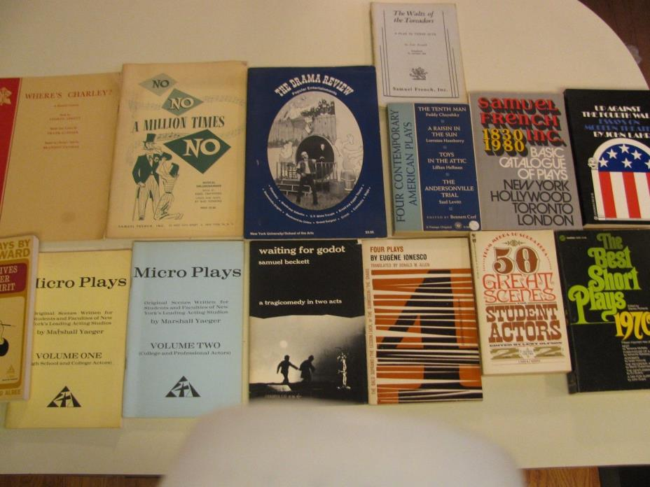 Vintage Play Scripts Paperback Lot of Books Plays Theater Beckett French 1