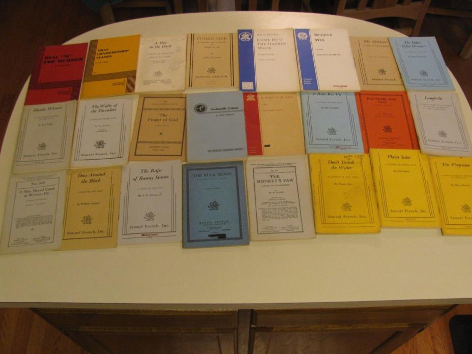 Vintage Play Scripts Samuel French Lot of Books Plays Theater