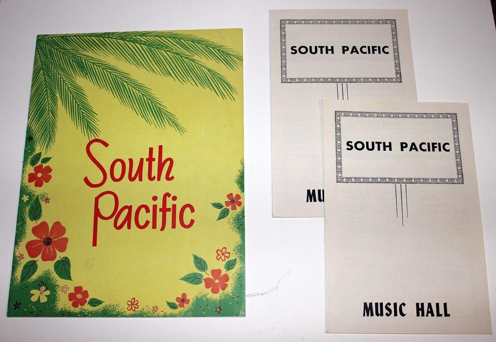 Original 1954 Rodgers & Hammerstein SOUTH PACIFIC Souvenir Theater Program