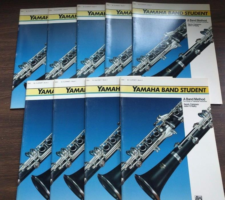 Lot of 9 YAMAHA BAND STUDENT B Flat Clarinet BOOK 2 Band Method NOS Alfred Publ
