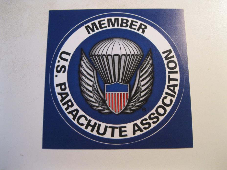 official USPA membership sticker skydiving parachuting skydive parachute