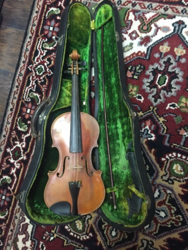 Old High Quality German Bruno Artist 4/4 Violin, Repair - Parts Vintage