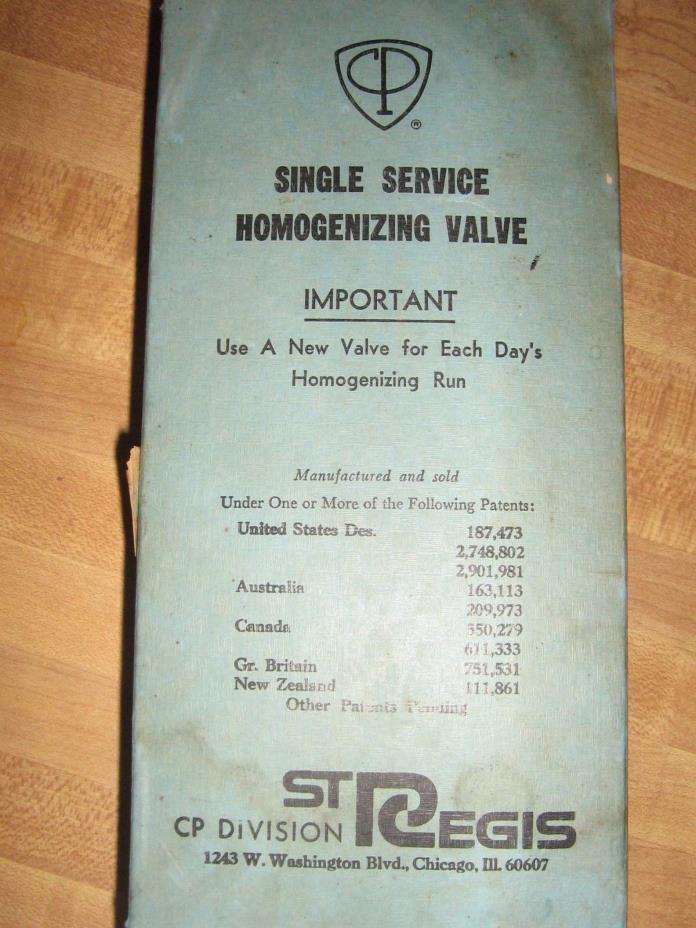 Lot of 49 St Regis Single Service Homogenizing Valves Dairy Equipment MAKE OFFER