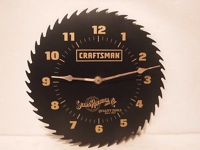 Sears Roebuck & Co Craftsman Battery Powered Saw Blade Shop Clock 10