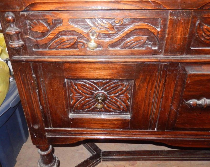 Antique, oak buffet, 36