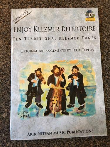 Clarinet Bb Klezmer Repertoire Ten Traditional Tunes Book W/ Cd