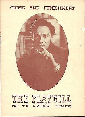 1948 Playbill Crime & Punishment John Gielgud Lillian Gish S. Meisner