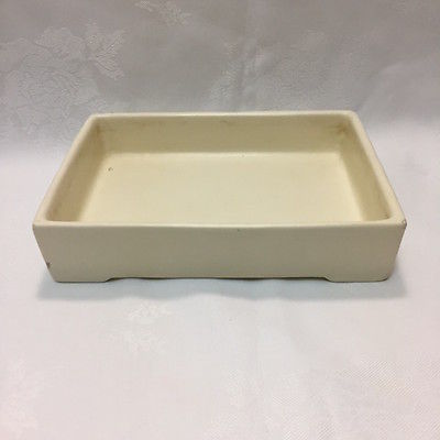 Vintage Early Haeger Pottery Usa Ceramic Matte White Planter Dish