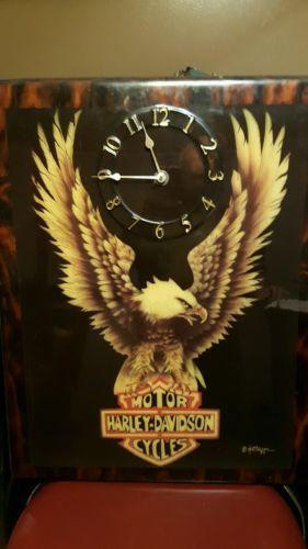 Vintage Harley Davidson Clock Patterson  1979