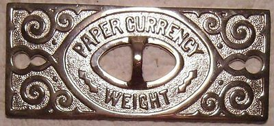 OLD/ORIG l Nickel-Plated NCR CO . Cash Register DRAWER CURRENCY   PAPERWEIGHT