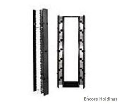 Chartsworth 30091-503 19-inch 1U Cable Management Panel - Black