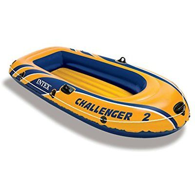 Challenger 2, Boating 2-Person Inflatable Set With French Oars And High Output