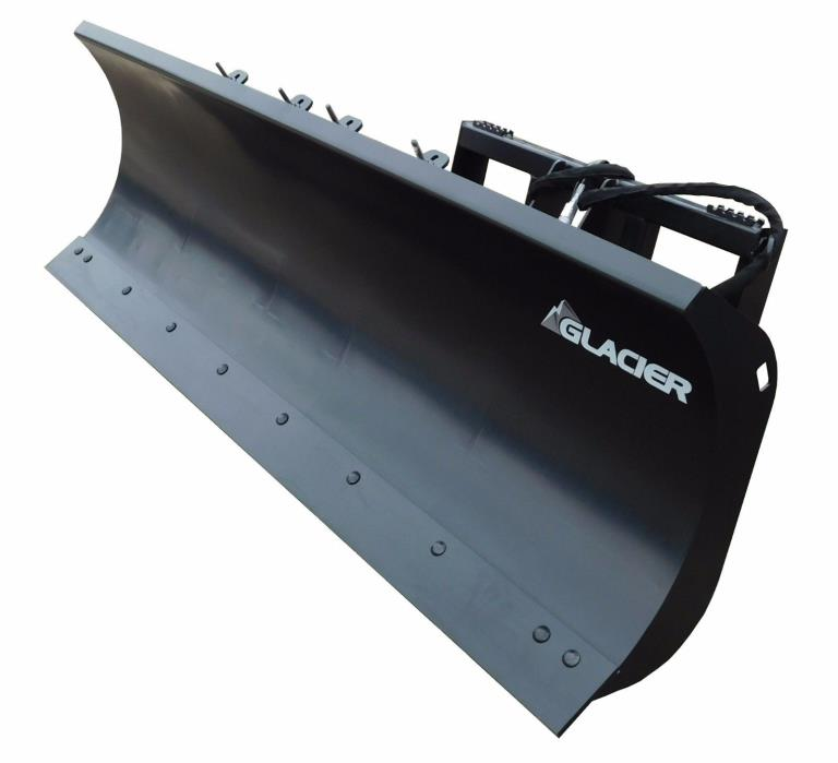Skid Steer Snow Plow By Glacier FITS BOBCAT CAT CASE MUSTANG GEHL AND MORE!