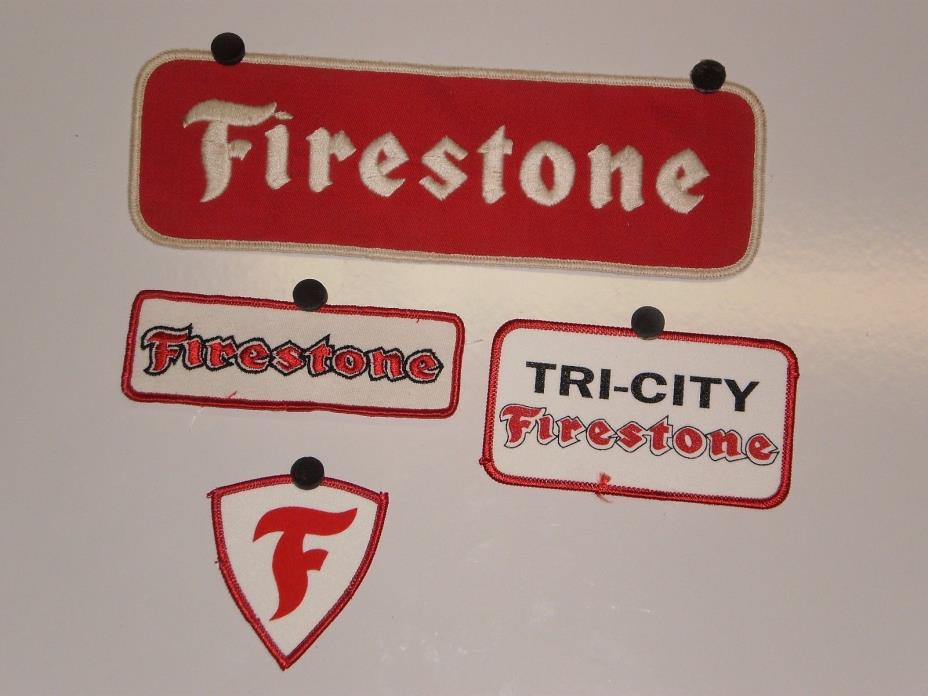 4 Firestone Tire  Patches NOS
