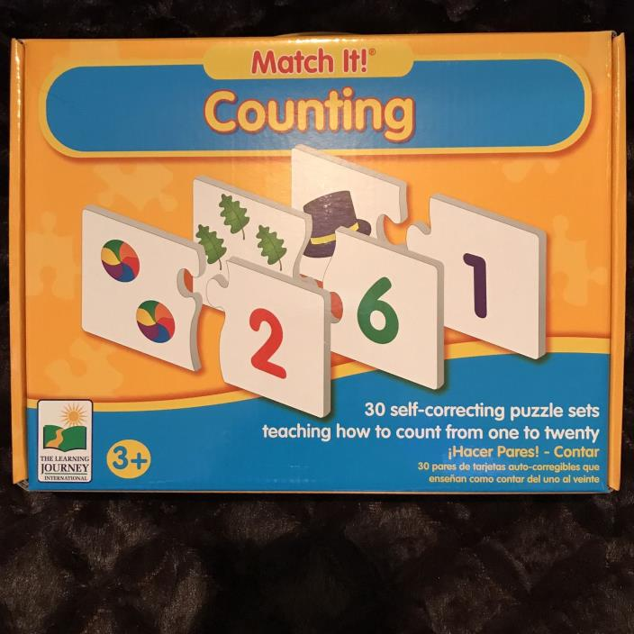The Learning Journey Match It! Counting Toy, 30 Puzzle Sets, Educational, NEW