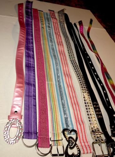 COLLECTION OF BELTS FOR GIRLS, 12 Varieties And Color Assortment