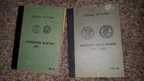 2 coin collection books holders liberty of coin books