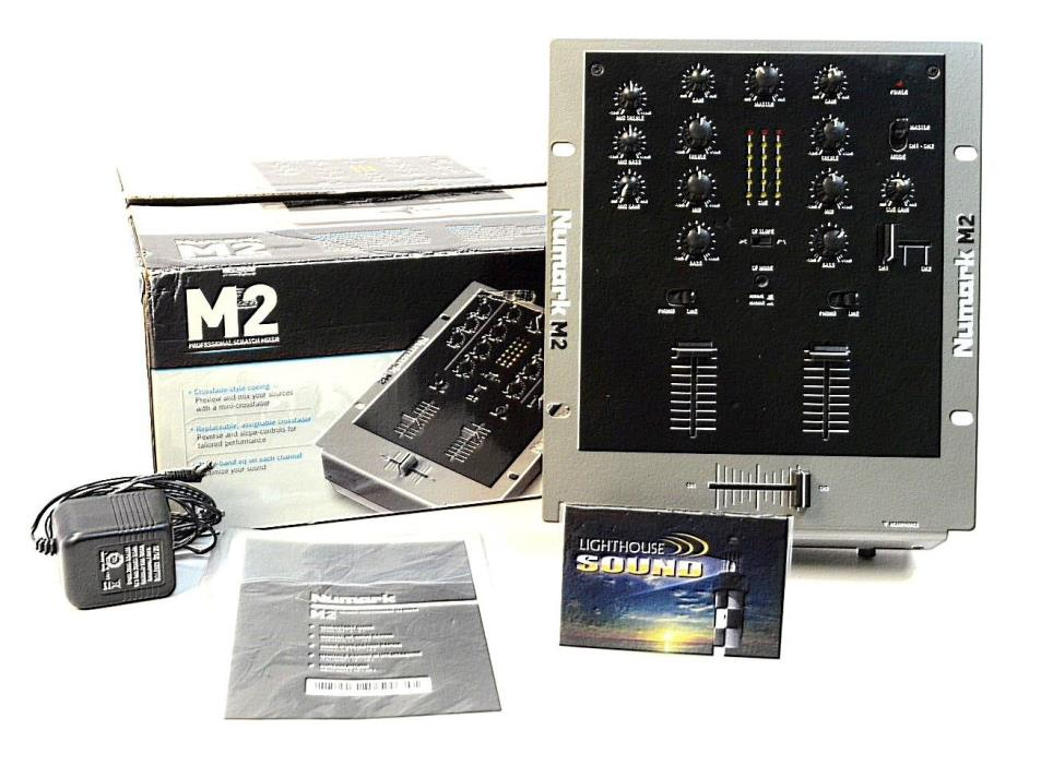 Numark M2 2-Channel Scratch Mixer w/Original Box