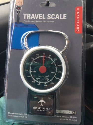 Travel Luggage Scale Suitcase Weight Hand Held Portable Hanging Hook 77 Lbs