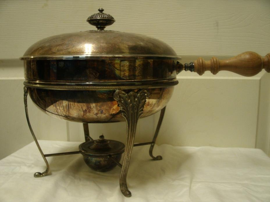 Italian Chafing Dish. Interesting design with wick snuffer. Excellent Condition.