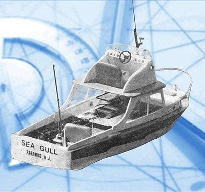 Model Boat Full Size Printed Plans & Article Fishing Boat 27