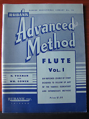 Rubank Advanced Method Flute Vol 1 1940 PB Instrument instruction