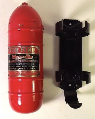 Vintage SHUR-EX The Motor Guardian Fire Extinguisher With Bracket
