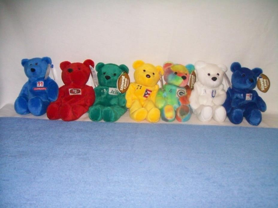 1998 &1999, 7 Bears!   1 Limited Treasure- 1 BAMM BEANO'S - & 5 Salvino's Bears