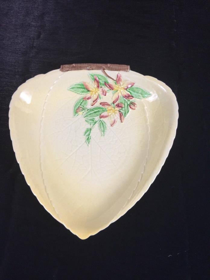 Antique Carlton Ware England Australian Design Leaves & Flowers Bowl Triangle