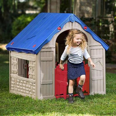 Portable Kids Playhouse Stow Easy Play Fort Folding Space Saving Preschool Hut