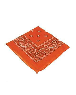 Orange Cowboy Cowgirl Western Bandana Head Scarf Costume Accessory