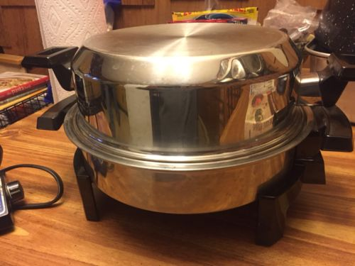 """Used Kitchen Craft West Bend Liquid Core Stainless Steel Electric Skillet 11"""""""
