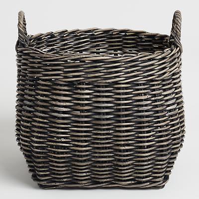 Large Black Kubu Zoey Tote Basket by World Market