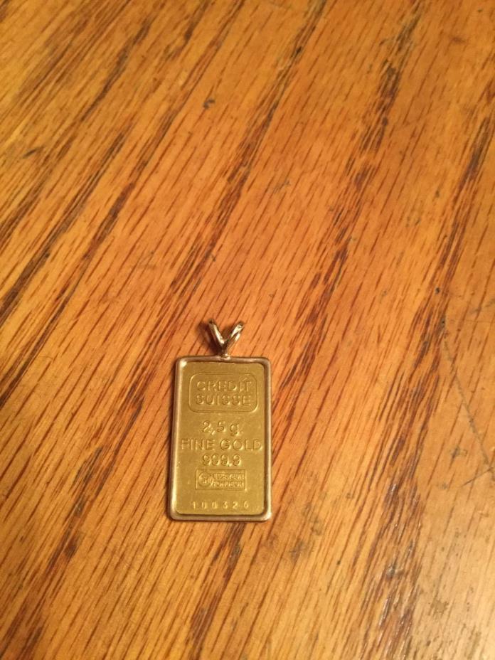 2.5 gram credit suisse gold ingot
