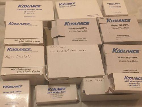 Huge Lot Of Koolance Valves Wires & Meter Computer PC Water Cooling Parts ALLNEW