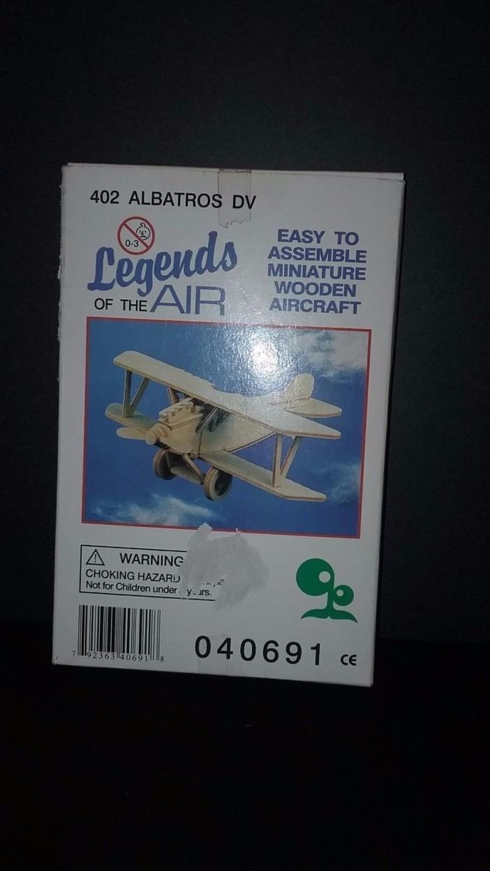 Legends of The Air Miniature Wooden Aircraft Airplane Model Kit  402,