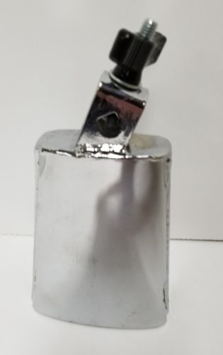 Used Latin Percussion LP204B Deluxe Black Beauty Chrome Mountable Cowbell