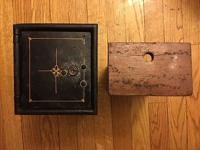 Antique Safe Interior Inner Box Compartment & Drawer