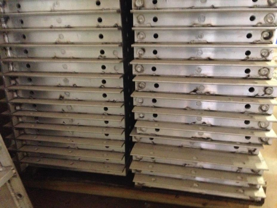 Aluminum Concrete Forms (Lot of 34 panels)