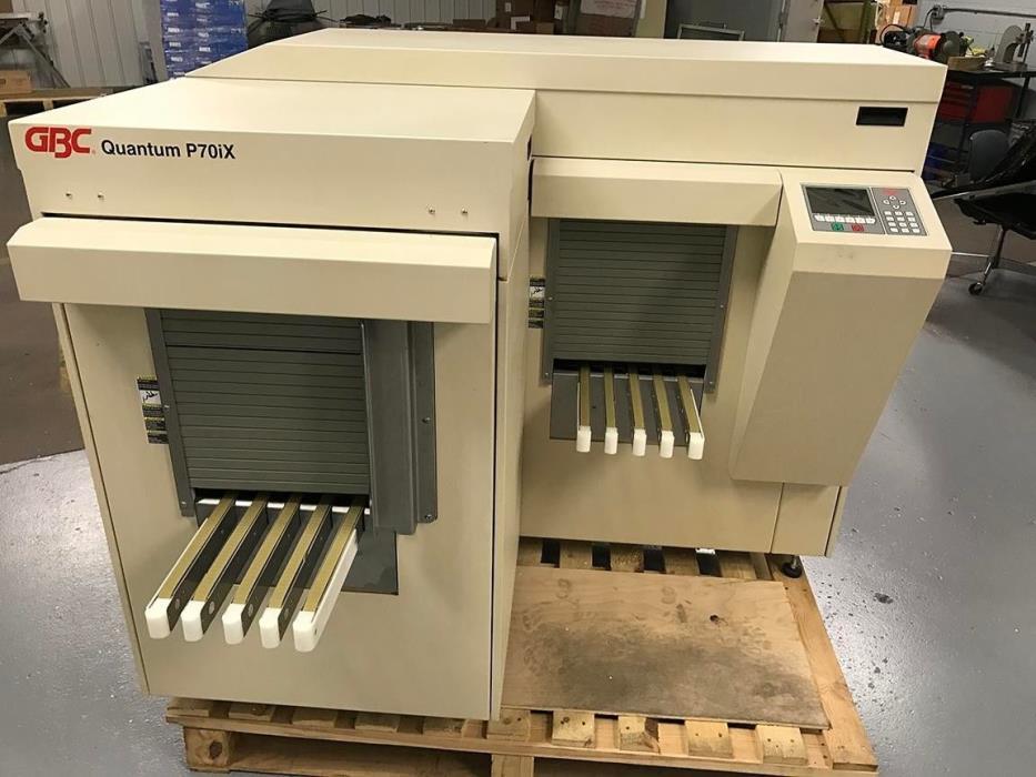 Printing press   GBC  Quantum P70iX Automatic punch - Condition unknown