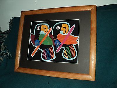 KUNA INDIAN MOLA ART TUCAN BIRDS