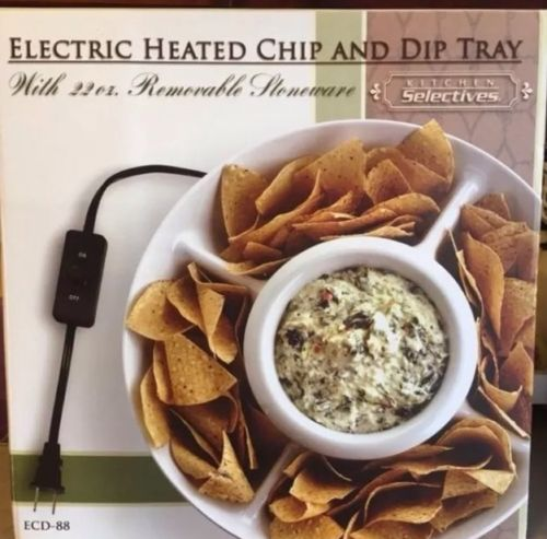 Electric Heated Queso Chip And Dip Tray