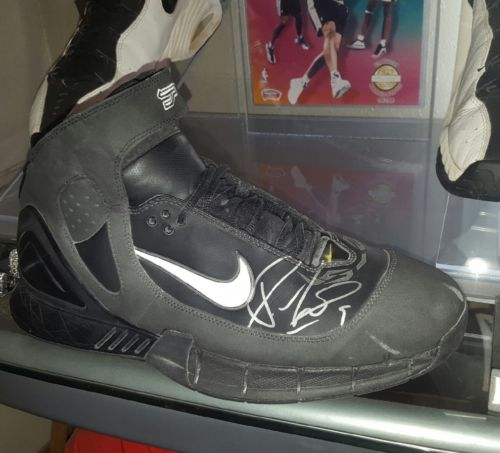 Tony Parker GAME WORN signed SINGLE nike shoe 2005 spurs RARE kawhi Guarantee