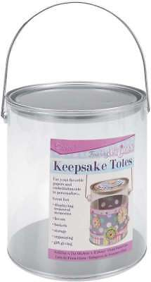 Keepsake Totes Clear Paint Can 6.625