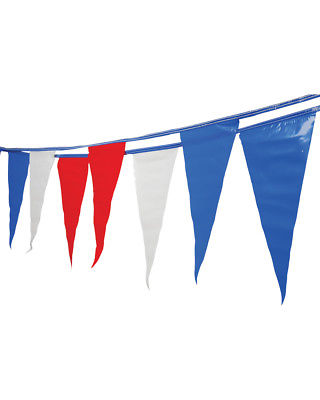 Red White And Blue Flag Pennant American Streamer String Banner Decoration