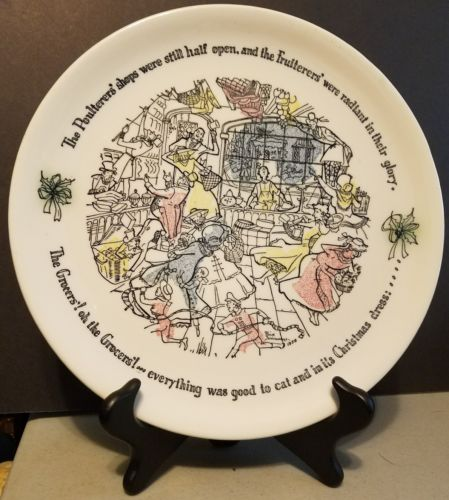 BUFFALO Pottery Co. 1958 Seasons Greetings Christmas Collector's Plate
